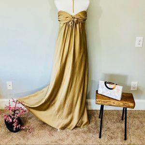 BCBG Maxazria 100% Silk Maxi Gown